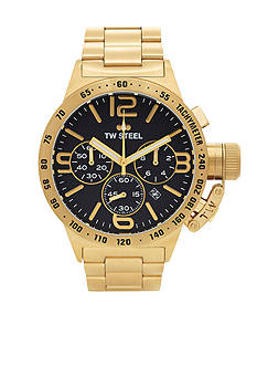 TW Steel Men's Gold Chronograph Black Dial Watch