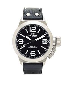TW Steel Men's Black Strap Black Dial Watch