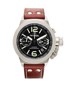 TW Steel Men's Chronograph Brown Strap Watch