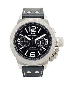 TW Steel Men's Big Case Chronograph Black Watch