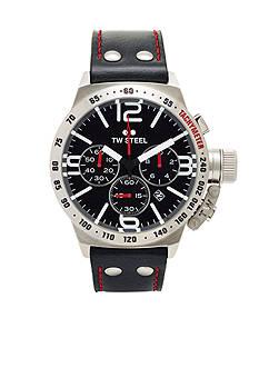 TW Steel Men's Chronograph Black Strap Watch