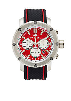 TW Steel Men's Chronograph Black Silicone Watch