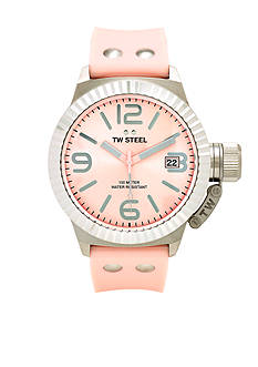 TW Steel Women's Pink Silicone Strap Watch
