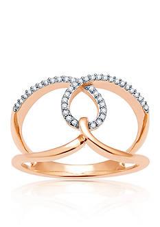 Belk & Co. Open Diamond Ring set in 10K Yellow Gold