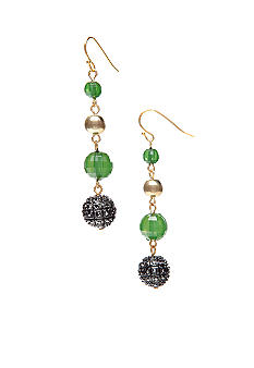 R.J. Graziano Linear Beaded Earrings