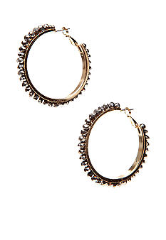 R.J. Graziano Beaded Hoop Earrings