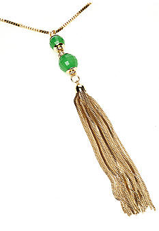 R.J. Graziano Beaded Tassel Necklace