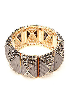R.J. Graziano Bracelet - Wide Gold and Hematite