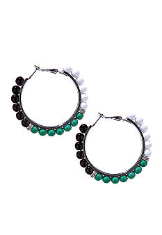 R.J. Graziano Color Beaded Hoop