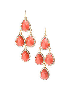R.J. Graziano Coral Multi Teardrop Earrings