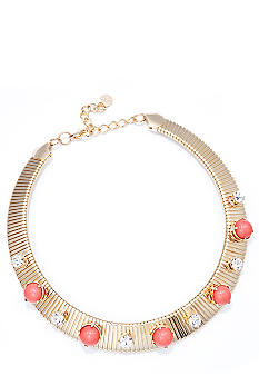 R.J. Graziano Coral Stone Collar Necklace