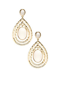 R.J. Graziano Double Row Teardrop Earrings