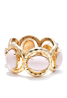 R.J. Graziano Gold and White Stone Bracelet
