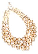 R.J. Graziano Three Row Gold Necklace