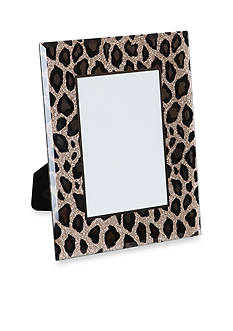 Mele & Co. Dara Mirrored Glass Photo Frame with Leopard Design