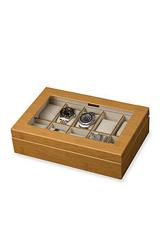 Mele & Co. Logan Glass Top Watch Jewelry Box - Online Only