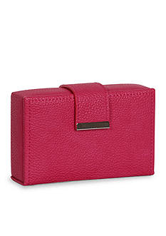 Mele & Co. Joni Travel Jewelry Case in Magenta