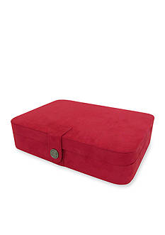 Mele & Co. Maria Plush Fabric Twenty-Four Section Jewelry Box in Red