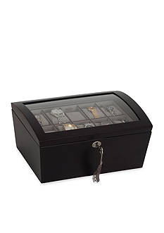 Mele & Co. Royce Locking Glass Watch Jewelry Box - Online Only