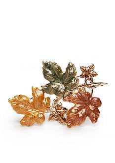 Kim Rogers Gold-Tone Leaf Pin in Box