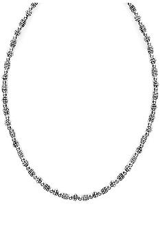 Napier Silver Beaded Collar Necklace