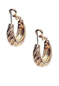 Napier Gold Tapered Clip Earrings