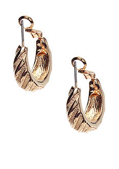 Napier Gold-Tone Tapered Earrings