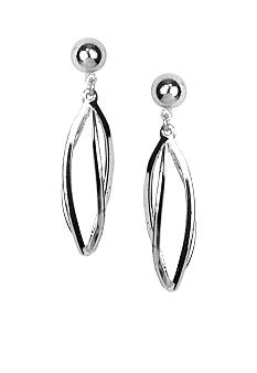 Napier Pierced Spiral Twist Drop Earrings