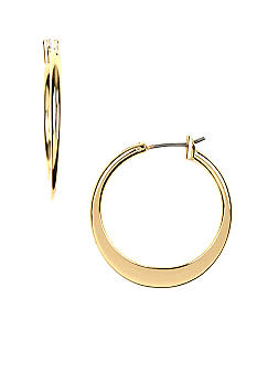 Napier High Polished Gold Hoop Earring