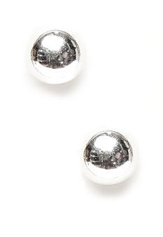 Napier Polished Silver Ball Pierced Earring