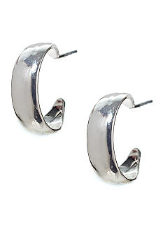 Napier Polished Tapered Hoop Earrings