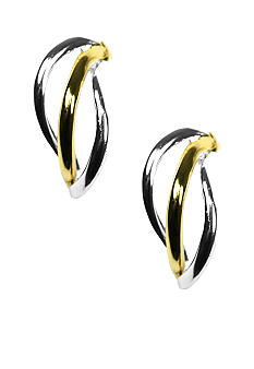 Napier Two Tone Triple Wire Earring