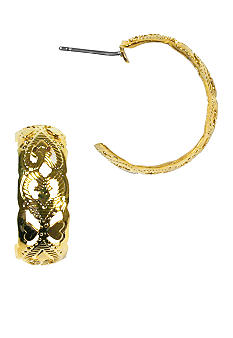 Napier Gold Textured Filigaree Earring