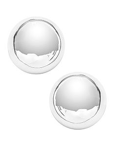 Napier Dome Button Silver Polished Pierced Earrings