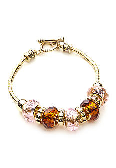 Napier Boxed Gold Slide Bead Bracelet