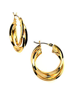 Napier Twist Hoop Earring
