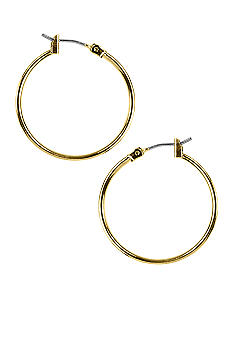 Napier Gold Tubular Hoop Earrings