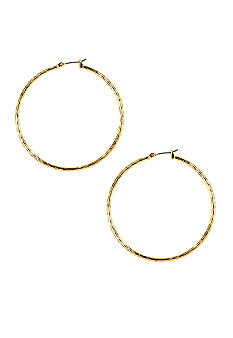 Napier Diamond Cut Hoop Earrings