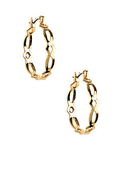 Napier Cut-Out Hoop Earring