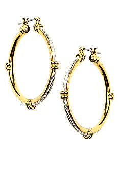 Napier Pierced Textured Click It Hoop Earrings