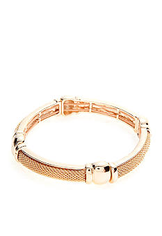 Napier Polished Gold Stretch Bracelet