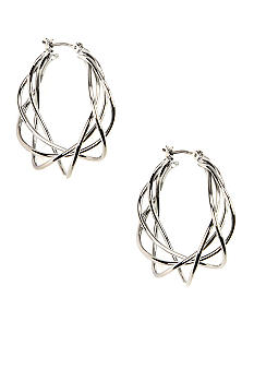 Napier Woven Multi Wire Hoop Earrings
