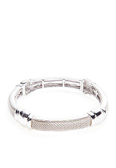 Napier Polished Silver Stretch Bracelet