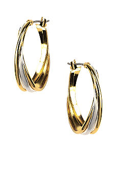 Napier Twist Oval Hoop