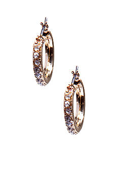 Napier Crystal and Gold Petite Hoop