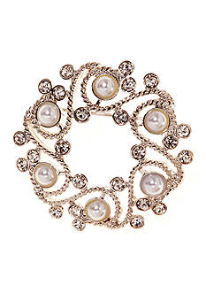 Napier Boxed Wreath Pin