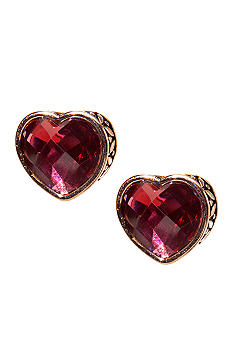 Napier Pierced Button Heart Earrings