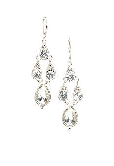 Napier Crystal Chandelier Earrings