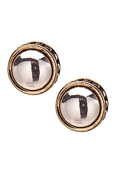 Napier Button Post Earrings