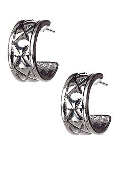 Napier Pierced C Hoop Earrings